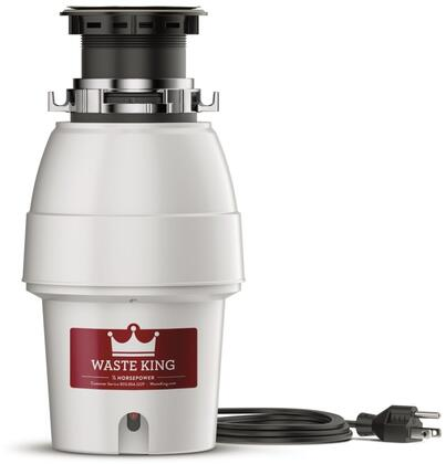 L2600 8 inch  Legend Series Waste Disposer with 1/2 HP  Continuous Feed  5 Year Warranty  Stainless Steel Grinding Components  and 2600 RPM High Speed Permanent