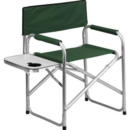 TY1104-GN-GG Aluminum Folding Camping Chair with Table and Drink Holder in