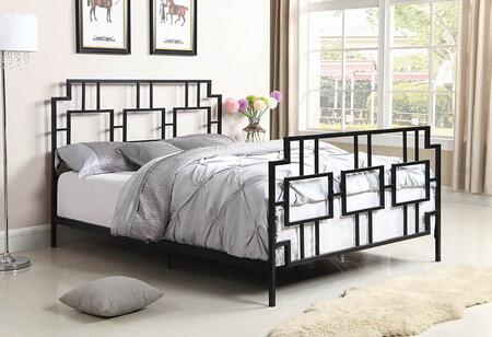 Penny Collection 302080F Full Size Bed with Open-Frame Panel Design and Steel Metal Construction in