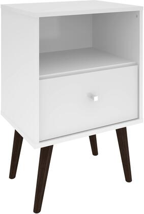 """Liberty Collection 203AMC6 18"""" Mid Century - Modern Nightstand 1.0 with Splayed Legs  1 Cubby Space and 1 Drawer in"""