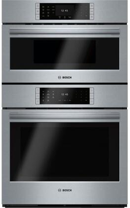 "HBLP752UC 30"" Bosch Benchmark Series Combination Oven with Speed Oven  4.6 cu. ft. Capacity  Ecoclean  Convection Cooking  Steel Touch and QuietClose   in"