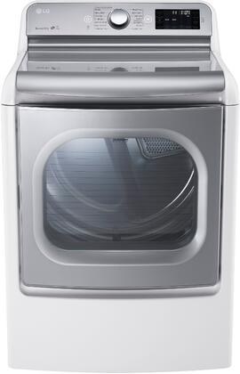 "DLGX7701WE 29"""" Front Load Gas Dryer with 9 cu. ft. Mega Capacity Stainless Steel Drum  14 Programs  EasyLoad Door  TurboStream Technology and SteamFresh Cycle"" 393889"
