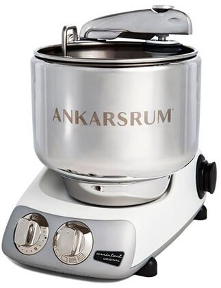 AKM6230MW Ankarsrum Original Mixer with 7 Liter Stainless Steel Bowl  3.5 L Double Whisk Bowl  Dough Hook  Roller  Scraper  Spatula  Dust Cover  Cookie Beaters