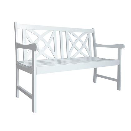 V1713 Bradley Outdoor Patio 4-Foot Wood Garden Bench In