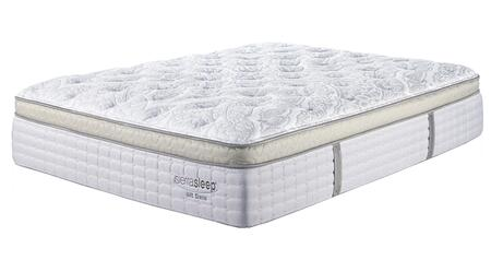 Mt Dana Et M95821 Full Size Plush Mattress With Vertical Handles For Lifting In Blue And