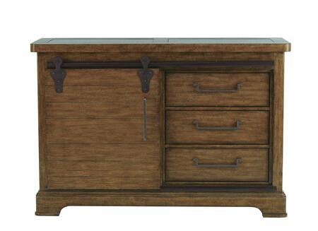8854-142 62 inch  American Attitude Sliding Door Buffet with Three Drawers  One Sliding Door  Two Shelves and Distressed Detailing in
