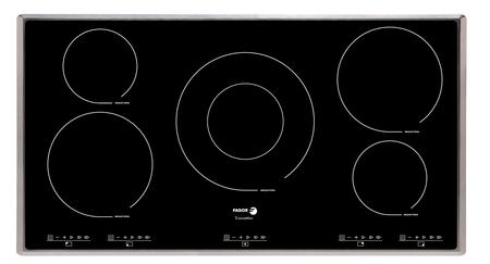 "IFA-90AL 36"" Induction Cooktop 5 Cooking Zones 12 Cooking Settings Extremely Durable Ceramic Glass 7-Point Safety System Illuminated Touch Sensor Control:"