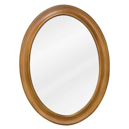 MIR060 Bath Elements 23-3/4 inch  x 31-1/2 inch  Warm Caramel Clairemont oval mirror with Beveled