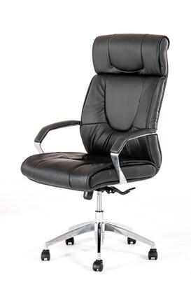 VGFCFS-8058 Modrest Victory Office Chair with High Back  Chrome Padded Armrest  Gas-Lift Adjustable Height  Swivel Base  Castors and Leatherette Upholstery in