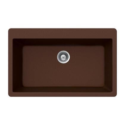 V-100 EARTH Quartztone Series Granite Topmount Large Single Bowl Kitchen Sink