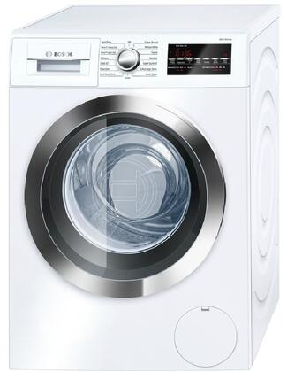 "800 Series White Front Load Compact Laundry Pair with WAT28402UC 24"""" Washer  WTG86402UC 24"""" Electric Condensation Dryer and 2 WMZ20490"" 538898"