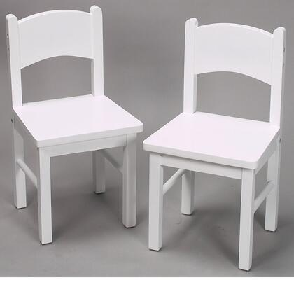 1408W Child's Pair Of Solid and Durable Rectangle Chairs in