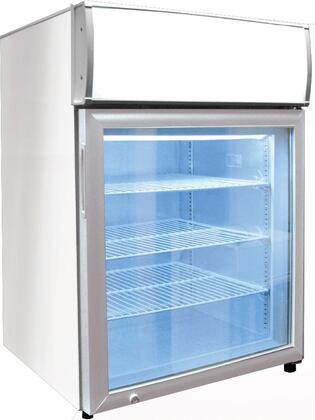 CTF-4MS 24 inch  Countertop Freezer with Merchandising Sign  4.1 cu. ft. Capacity  3 Adjustable Shelves  Door Lock and Fully Insulated Glass