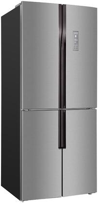 FF4D15H3S 4 Door Refrigerator with 14.9 cu. ft. Capacity  Adjustable Glass Shelves  Crisper Drawer  Frost Free  and Integrated Handles  in Stainless