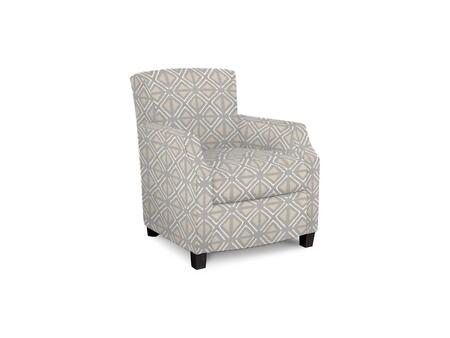 Comiskey Connection 1149-02/BE63-2 28 inch  Accent Chair with Fabric Upholstery  Tapered Wood Legs  Tight Back and Contemporary Style in Printed Geometric