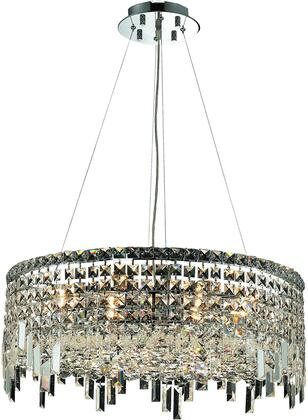 V2031D24C/RC 2031 Maxime Collection Chandelier D:24In H:10.5In Lt:12 Chrome Finish (Royal Cut