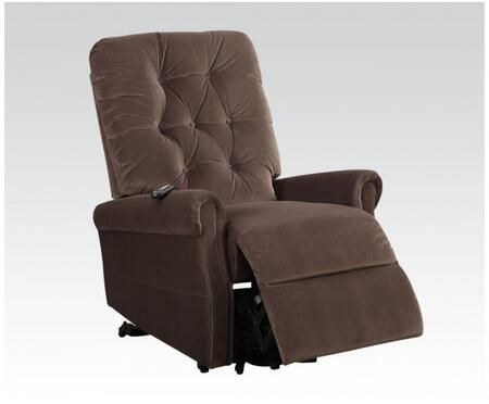 Zody Collection 59241 35 inch  Recliner with Power Lift Function  Massage Mechanism  Power Wired Controller  Rolled Arms  Button Tufted Backrest and Velvet