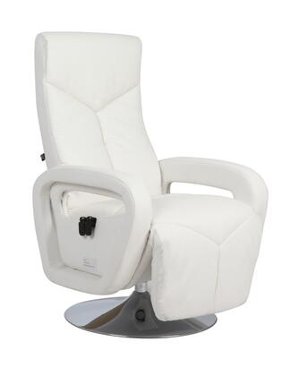 70160-IVORY Ottana Zerostrain Recliner w/ Swivel Chrome Base in
