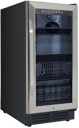 Avanti BCA3115S3S 15 Built-In Deluxe Beverage Center with 3.1 cu. ft. Capacity Reversible Double-pane Tempered Glass Door Automatic Defrost and Lock in Stainless