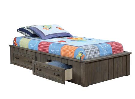 Napoleon Collection 400931F Full Bed (No Headboard) with Kenlin Drawer Glides and English Dovetail Front and Back in Gunsmoke
