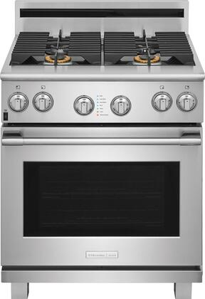 E30GF74TPS 30 inch  Pro Style Gas Range with 4 Burners  CustomConvect Convection  Smooth-Glide Oven Racks  in Stainless