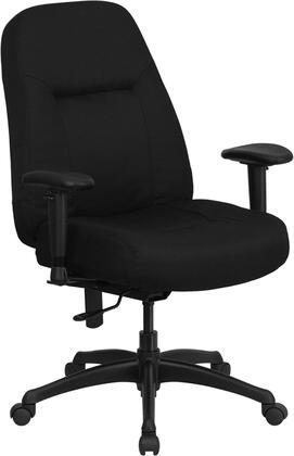 WL-726MG-BK-A-GG HERCULES Series 400 lb. Capacity High Back Big & Tall Black Fabric Office Chair with Height Adjustable Arms and Extra WIDE