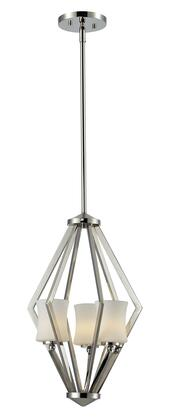 Elite 608-3-CH 12 inch  3 Light Foyer Pendant Contemporary  Urbanhave Steel Frame with Chrome finish in Matte