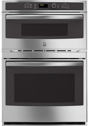 "GE Profile Series 30"" Built-In Single Electric Convection Wall Oven with Built-In Microwave Stainless-Steel PT7800SHSS"