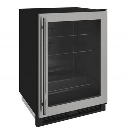 U-Line U1224RGLS00A 1000 Series 24 Inch Built In Compact Refrigerator with 5.4 cu. ft. Capacity, in Stainless Steel