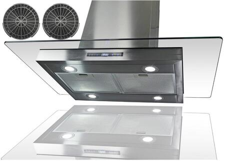 GIRCI36 36 inch  Island Mount Range with 870 CFM  65 dB  Innovative Touch  LED Lighting  3 Fan Speed  Aluminum Grease Filter and Ductless: