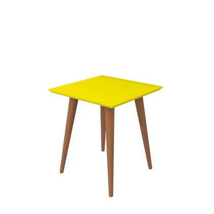 89353 Utopia 19.68 inch  High Square End Table With Splayed Wooden Legs in