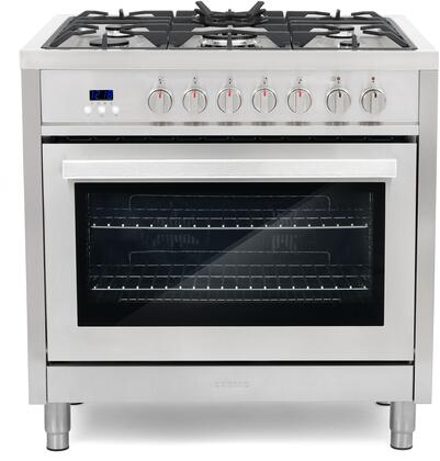 Click here for F965 36 Dual Fuel Gas Range with 3.8 cu. ft. Elect... prices