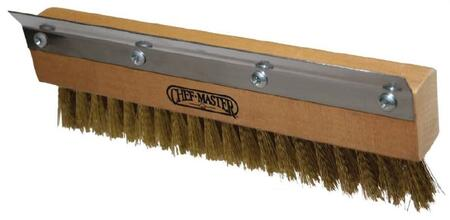 90046 10 inch  Wide Replacement Pizza Oven Brush Head with Brass Bristles and Stainless Steel Scraper Blade
