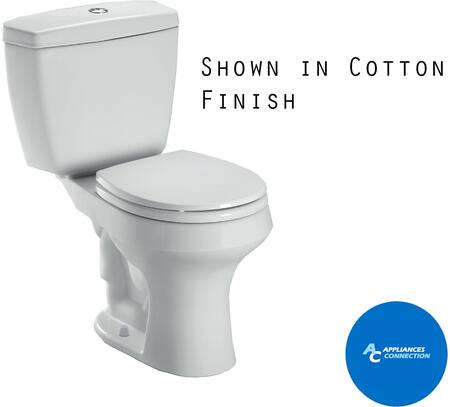 CST405MF#12 Rowan Series Two-Piece Round Toilet with Vitreous China Construction  Dual-Max Flushing System  and Chrome Push Button  Sedona Beige