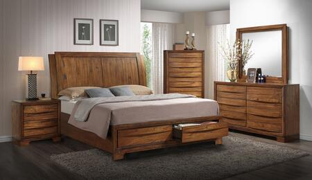Sonoma Storage Ss-bj600-k-bed-set 5 Piece King Size Bedroom Set With Bed + Dresser + Mirror + Chest +