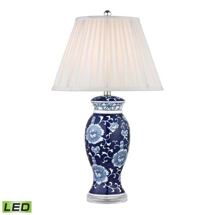 D2474-LED Hand Painted Ceramic LED Table Lamp In Blue And White With Acrylic