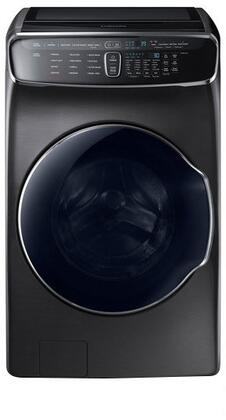 "WV60M9900AV 27"" FlexWash Washer With Flexwash  6 cu. ft. Total Capacity  Super Speed  Steam Wash  Self Clean+  in Black Stainless"