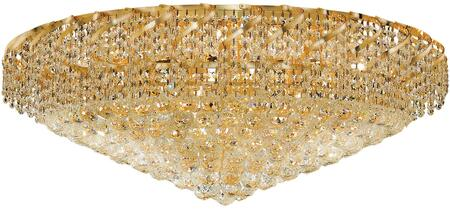 VECA1F36G/SS Belenus Collection Flush Mount D:36In H:18In Lt:20 Gold Finish