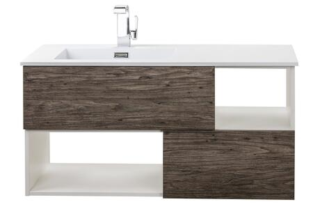 Sangallo Collection FVSTAR42 42 inch  Wall Mount Vanity with 2 Drawers  2 Open Shelves and Matt Top in Stargazer
