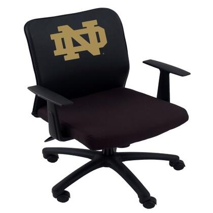 B6106-LC012 Boss Basic Mesh Task Chair with Arms and University of Notre Dame Fighting Irish