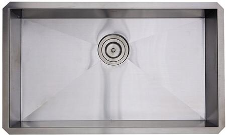 SS-PRO-ZR3018-5.5 30-inch Single Bowl Zero Radius ADA Stainless Steel Kitchen