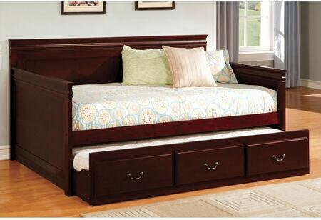 Sahara Collection CM1637CH-BED Twin Size Platform Daybed with Trundle Included  English Style  Slat Kit Included  Solid Wood and Wood Veneers Construction in