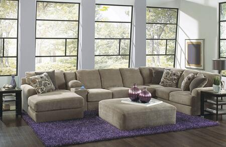 Malibu Collection 3239-75-88-30-72-2668-26/2669-26/2683-28 172 inch  4-Piece Sectional with Left Arm Facing Chaise  Armless Sofa  Console with Entertainment and