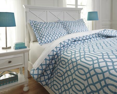 Loomis Q758031T 2-Piece Twin Size Comforter Set includes 1 Comforter and 1 Standard Sham with Geometric Design and 200 Thread Count Cotton Material in Aqua
