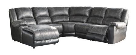 Nantahala 50301-16-46-77-19-41 5PC Sectional Sofa with Left Arm Facing Chaise  Armless Chair  Wedge  Armless Recliner and Right Arm Facing Zero Wall Recliner