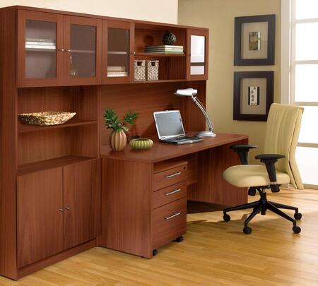 1C100006MCH Cherry Executive Office Desk with Hutch &