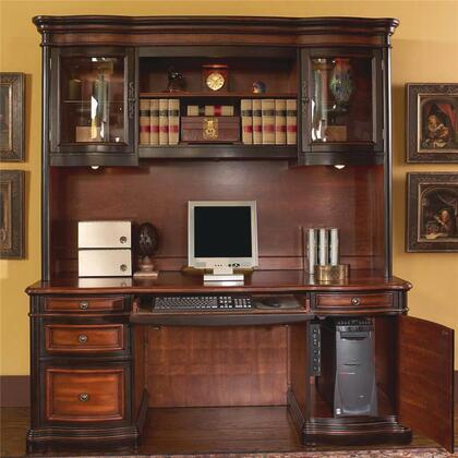 800500SET Pergola Traditional Kneehole Credenza and Hutch by