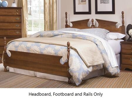 Common Sense 187850-187853-971900 63 inch  Queen Sized Bed with Panel Headboard  Footboard and Metal Slat-less Rails in Traditional