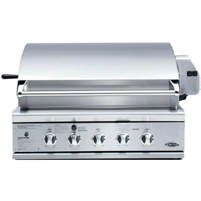 "BGC36-BQAR-L 36"""" Built-in or On Cart Gas Grill with 3-25 000 BTU Burners  Heavy-Duty Rotisserie Motor  Integrated Rotisserie Burner  Smoker Tray and Smart Beam"" 402613"