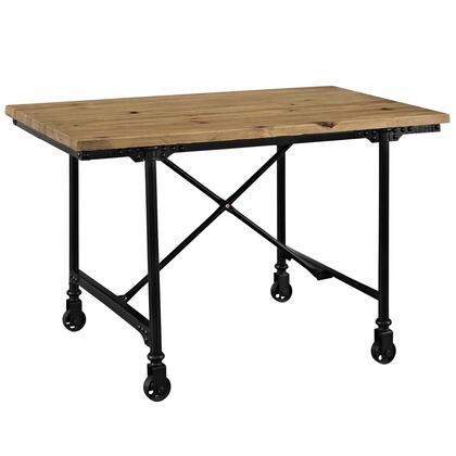 Raise EEI-2639-BRN Wood Office Desk in